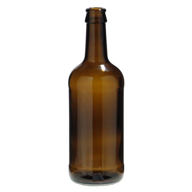500 ml MBC. Botella de vidrio ideal para cervezas.
