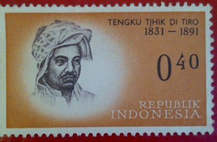 collection stamp series legend of heroes indonesia.    Tengku Thik Di Tiro, 1851-1891