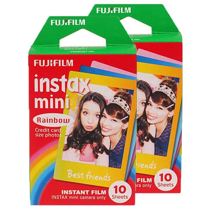 Подлинная Пленка Fujifilm Instax Mini 8 Радуга Fuji Мгновенный Фотобумага 20 листы Для 8 7 s 7 50 s 50i 90 25 dw Поделиться СП-1 камеры