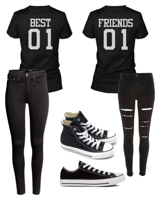 """""""Best friends always"""" by oliviagrace02 on Polyvore featuring River Island, Converse and H&M"""
