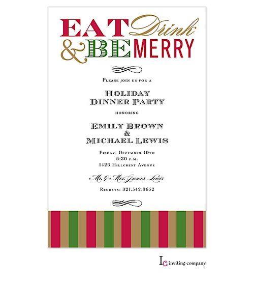 133 best images about Christmas cocktail party invitations – Christmas Dinner Party Invitations
