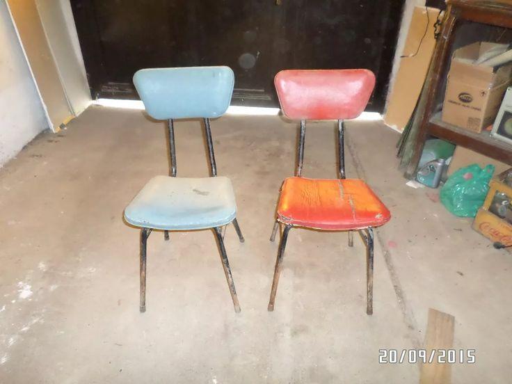 par de sillas estilo americano de caño, muy de moda