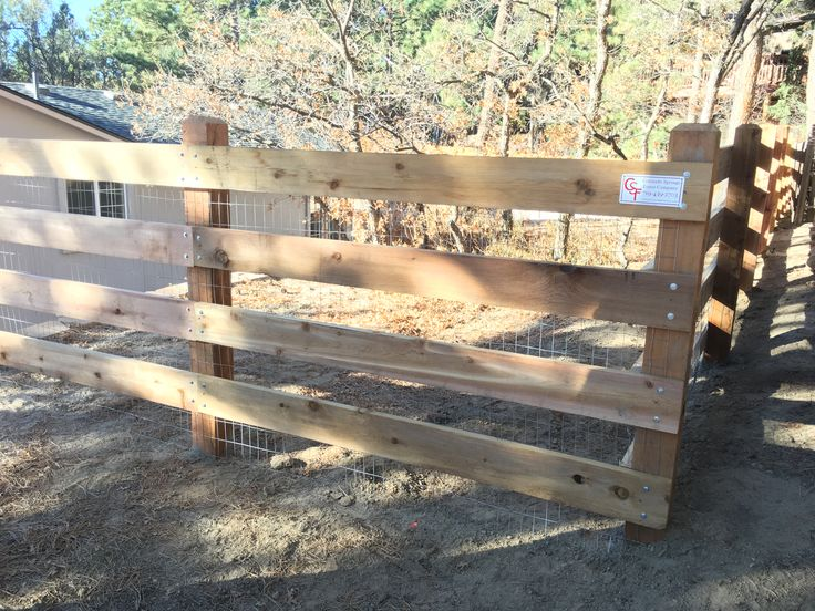 4 Rail Cedar Ranch Rail Fence Using 6x6 Posts With Beveled