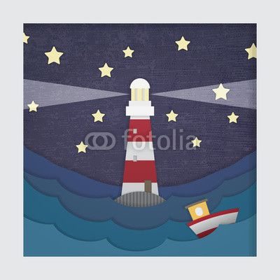 Wektor: 3d Lighthouse Picture