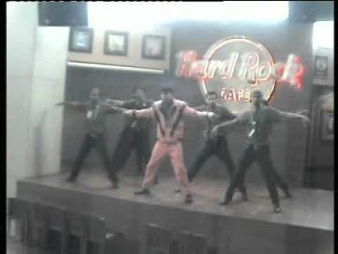 Hard Rock Cafe Hyderabad staff pays a tribute to Michael Jackson performing to 'Thriller.'