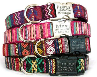 Personalized ID dog collar Engraved buckle dog by MaritynDog Pet Accessories, Dog Toys, Cat Toys, Pet Tricks