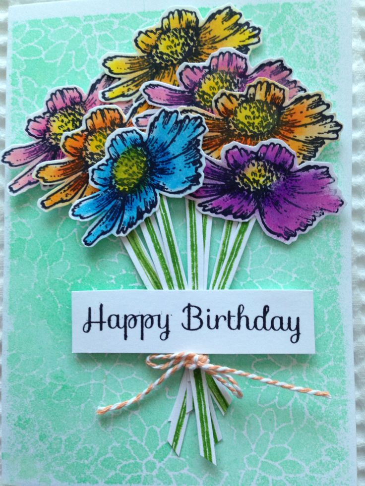 My second entry March Callenge - Live Love Cards. Using 'Peony Blossoms' stencil by Memory Box. Also uses Distress Stain Spray in 'Cracked Pistachio' by Ranger and Faber-Castell Gelatos.