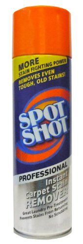 Spot Shot works great on pet stains, coffee, spaghetti sauce, grease and oil, marker, wine and more. Just spray on Spot Shot and blot the stain away. No need for rubbing or scrubbing