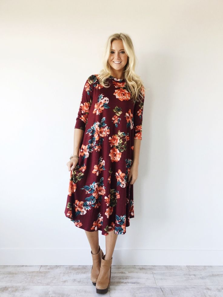 The Lydia Dress in Wine | ROOLEE