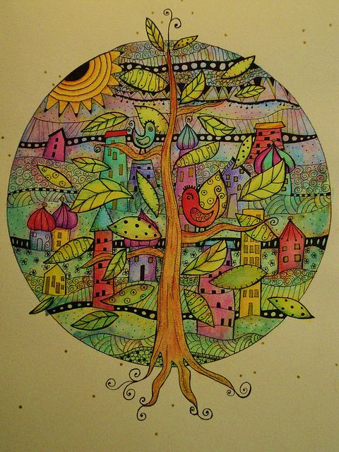 amazing tree mandala by Madeleine de Kemp via Flickr...What a fun project this will be!!!