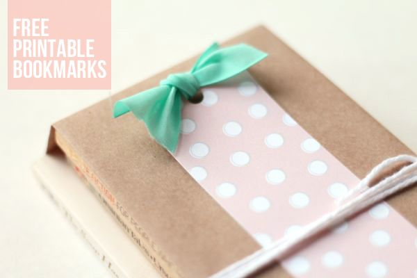 book wrap idea + free printable bookmarks