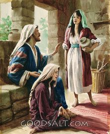 Mary and Martha Talking with the Master