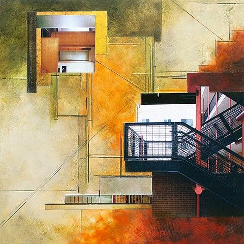 Ginny Herzog: RELIC 17-413, Oil/cold wax and collage