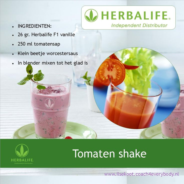 Herbalife hartige shake recept met tomaten