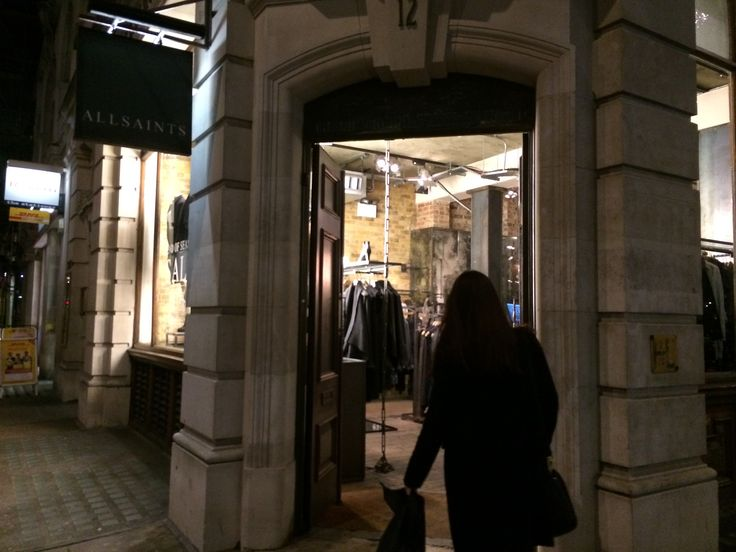 The Entry of AllSaint retail store at Oxford Circus in London.
