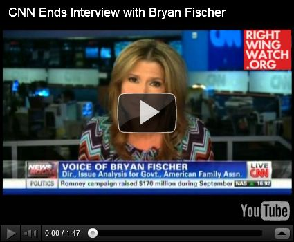 HRC blog: 'CNN anchor calls out Bryan Fischer on anti-LGBT lies' (with Right Wing Watch video)