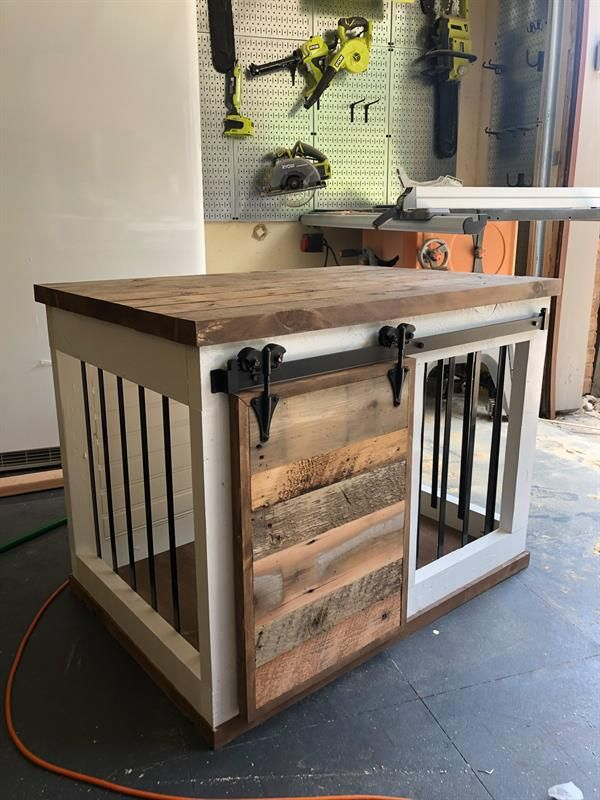 diy barn door dog crate