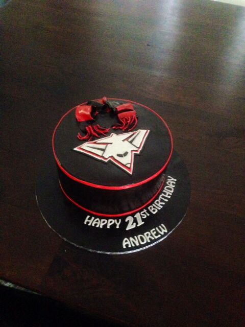 AFL Bombers cake - created by Villa Chateau cakes