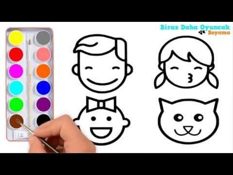 Anne Baba Bebek Kedi Boyama çocuklar Için Boyama Videoları çocuk