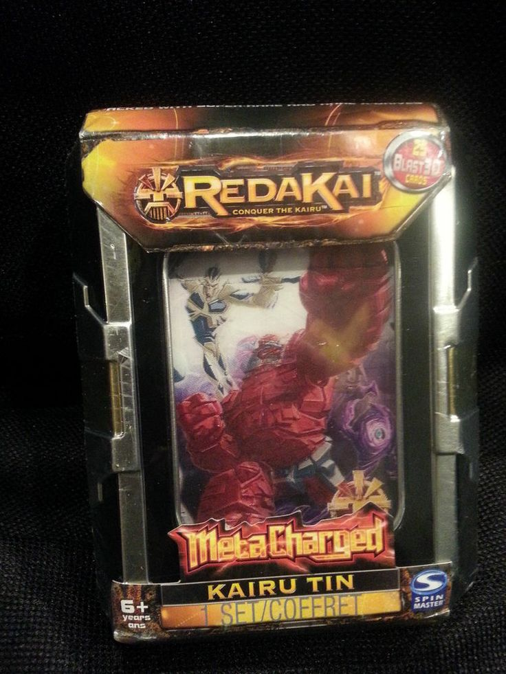 MetaCharged KAIRU Tin REDAKAI 25 Blast 3D Cards NEW IN TIN