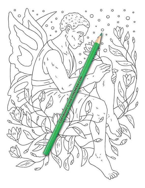 Printable Adult Coloring Pages Mythical Fairy Creatures Coloring