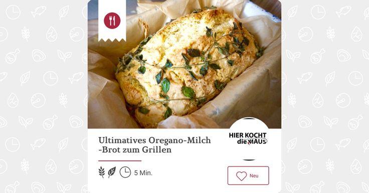 Ultimatives Oregano-Milch-Brot zum Grillen - Ein Rezept von Hier kocht die Maus Foodblog - mealy