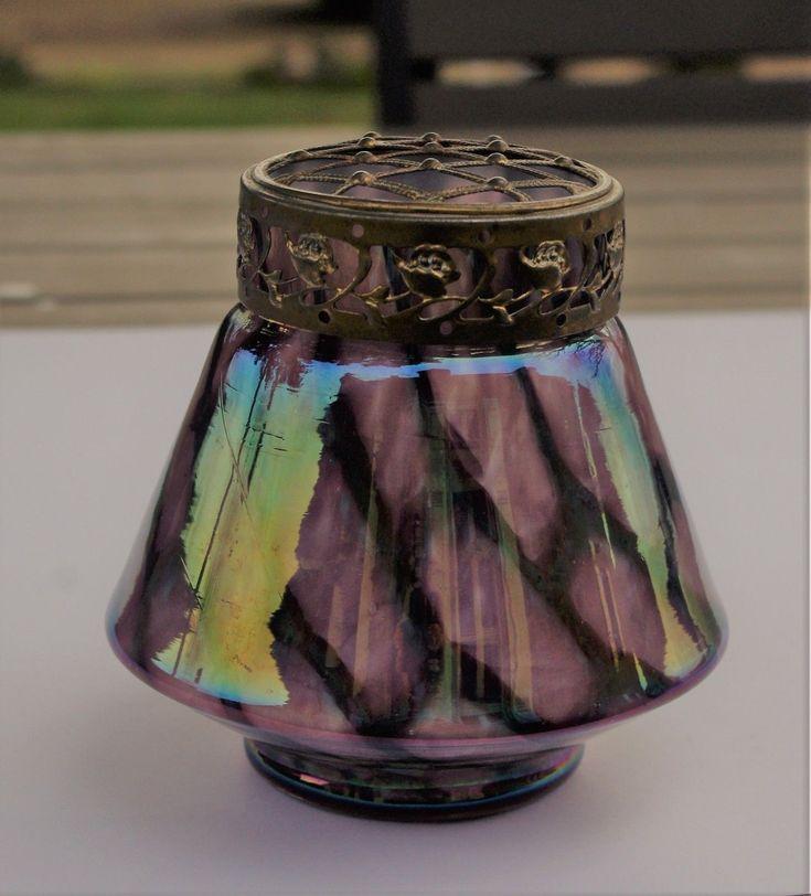 - vase verre irisé - LOETZ KRALIK - autriche - ART NOUVEAU - 1900 - monture | eBay