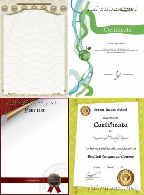 Шаблоны сертификатов и дипломов в векторе | Certificate %26 diploma Templates 8
