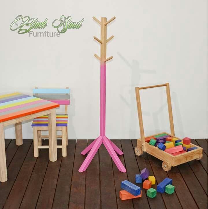 Kids coat rack NZ Made by Black Sand Furniture