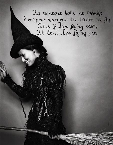I never got to see her in person, but my favorite Elphaba