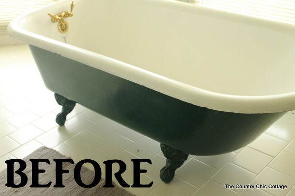 Painting a Claw Foot Tub - * THE COUNTRY CHIC COTTAGE (DIY, Home Decor, Crafts, Farmhouse)