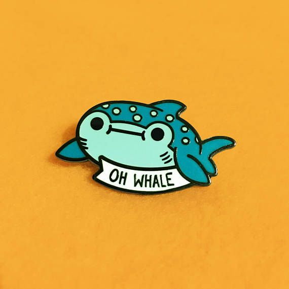 Oh Whale Hard Enamel Pin   Lapel Pin   Cute Whale Shark Pin