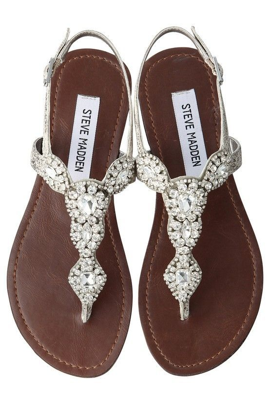 Sandals with a bit of bling!