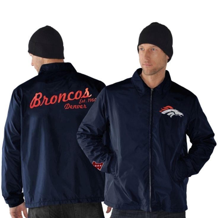 Denver Broncos Head Coach Full Zip Jacket - Navy Blue
