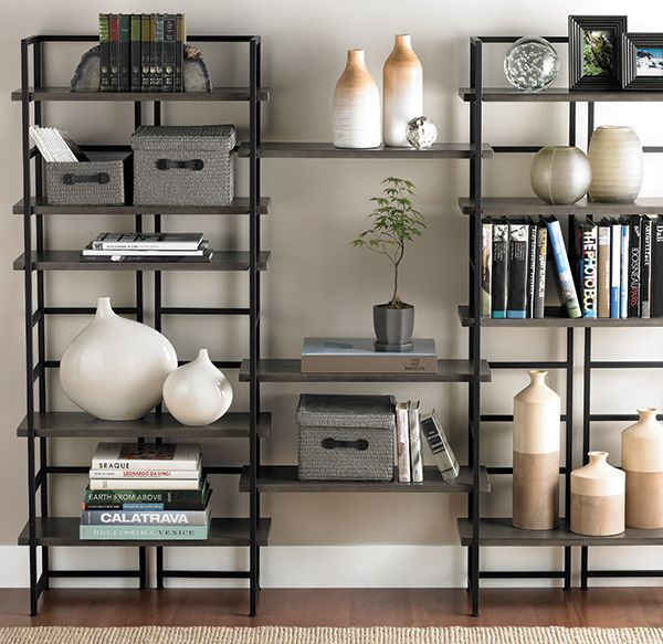 Driftwood Connections® Living Room   BEAUTIFUL Shelving For Office Or For  Any Room. The Shelving Is Heavy So It Wonu0027t Turn Over Easily. The Container  Store.