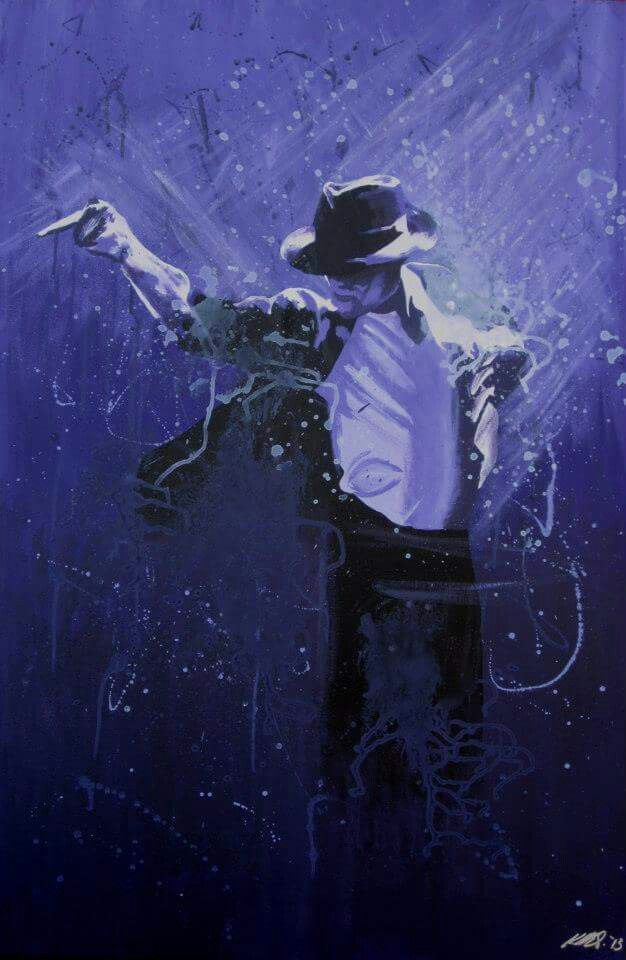 """MJ"" IconArtCanberra - acrylic painting - fan art - Michael Jackson"