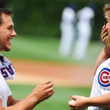 Buzzing: Olympian and Dancing with the Stars champ Shawn Johnson gets engaged at Wrigley Field