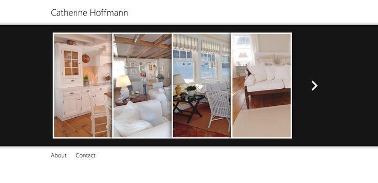 WP design for interior decorator website: Catherine Hoffmann