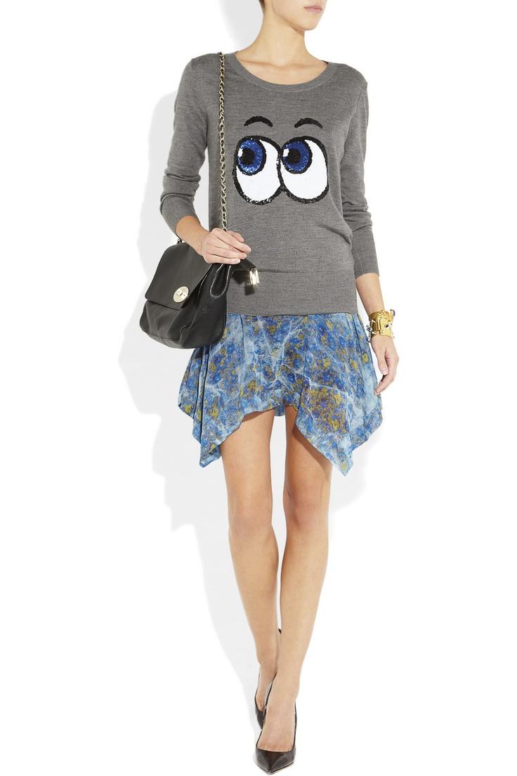 Markus Lupfer|Pop Eyes sequined merino wool sweater|NET-A-PORTER.COM