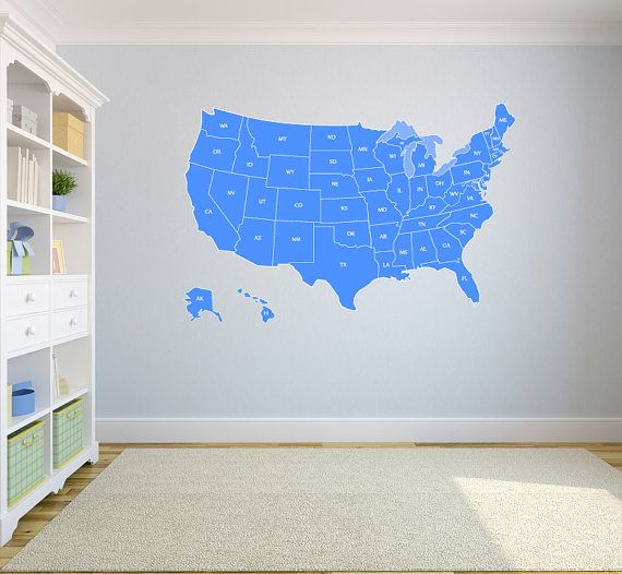 Best US Alumni Wall Map Images On Pinterest Decorations - Large us wall map