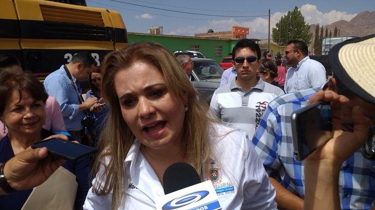 <p>Chihuahua, Chih.- Maru Campos, presidenta municipal de Chihuahua comentó que se tiene previsto que el otro mes arranque la obra del trébol