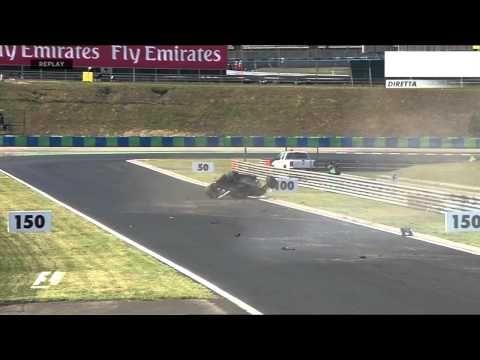 Sergio Perez Crash, Practice 1 F1 Hungarian Gran Prix 2015, 24 July 2015