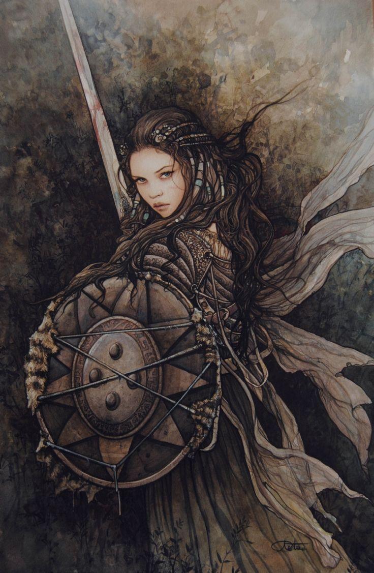 Rpg female character portraits photo concept art en - Fantasy female warrior artwork ...