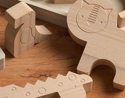 "Check out new work on my @Behance portfolio: ""Wooden puzzle visualisation""…"