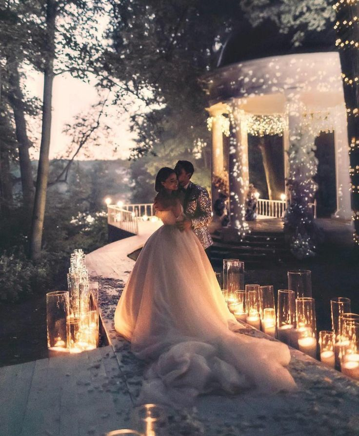 20 magische Hochzeitslichter, die Sie einfach sehen müssen