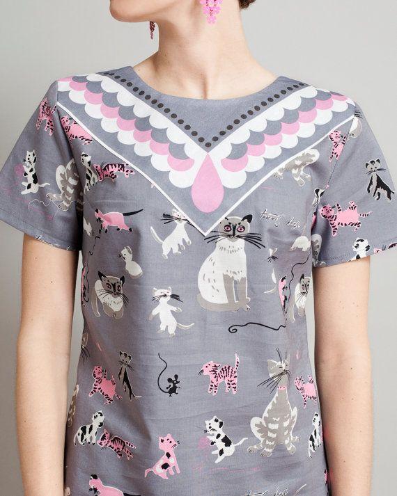 Cat print shirt Supayana