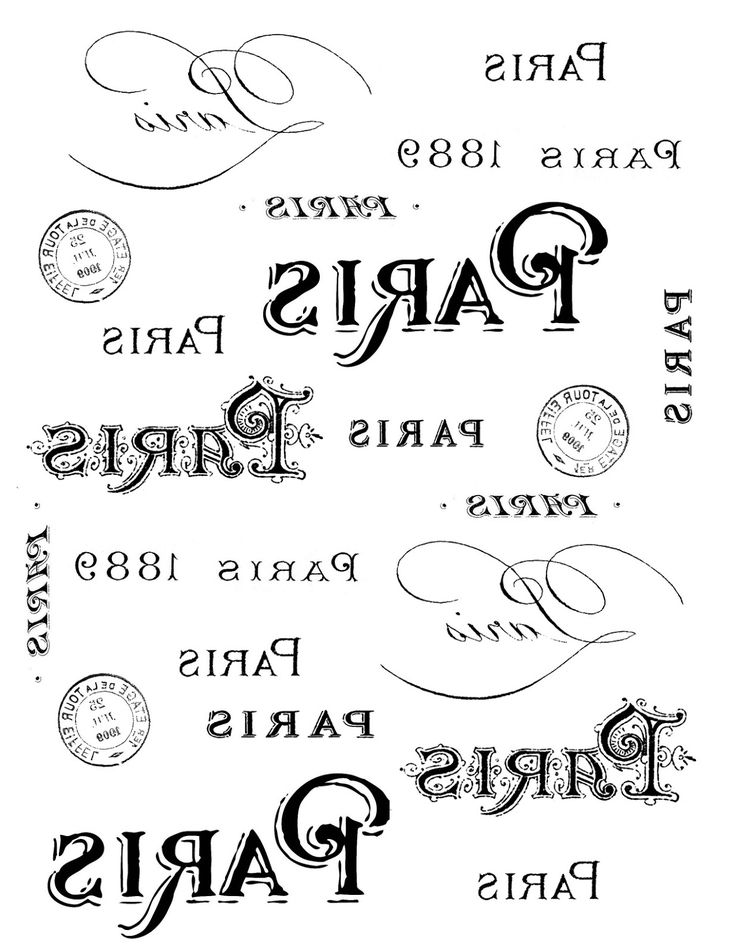 The Graphics Fairy - DIY: French Transfer Printable - Paris Typography