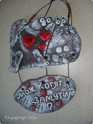 Поделка изделие Лепка Любимые котики Тесто соленое фото 4