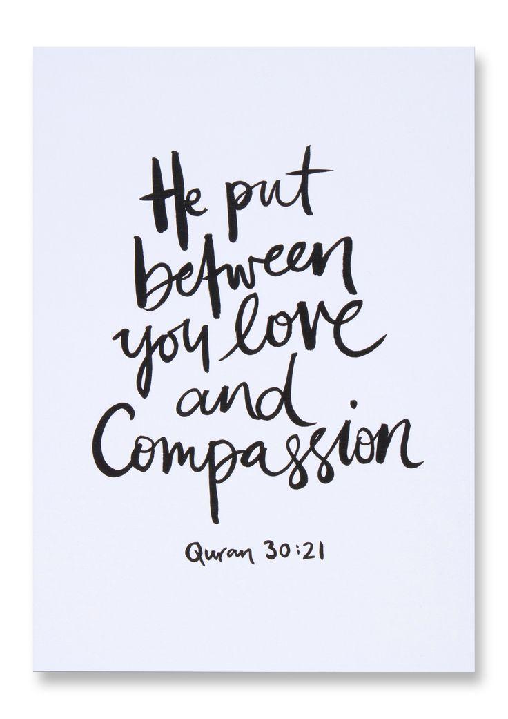 Love & Compassion - Islamic Art Print
