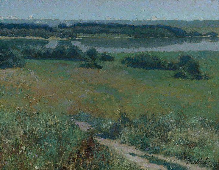 Kolomenskoe. Summer  #landscape #painting by Daniil Belov, oil on hardboard